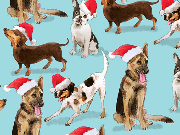 """Happy Howlidays Wrapping Paper 30"""" x 417', Half Ream Roll"""