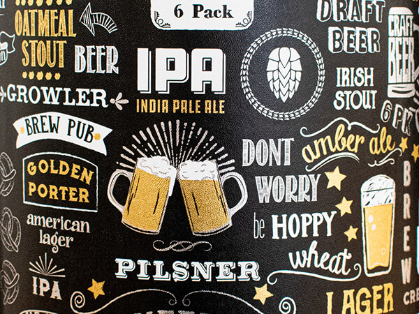 "Cheer and Beers Wrapping Paper 26"" x 417', Half Ream Roll"