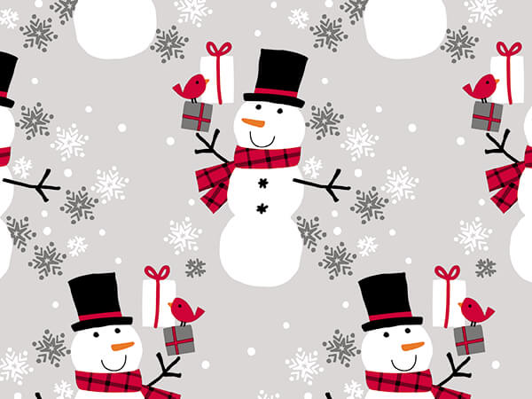 """Frosty Flakes Wrapping Paper 24"""" x 417', Half Ream Roll"""