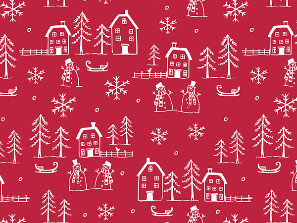 """Christmastown Wrapping Paper 26"""" x 417', Half Ream Roll"""