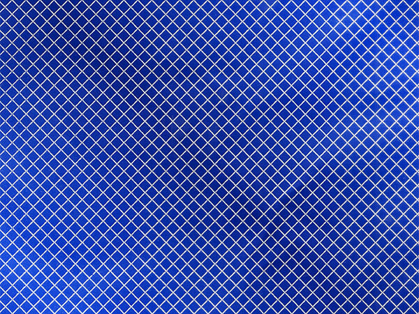 "Silver Diamond on Blue Foil Gift Wrap, 24"" x 417', Half Ream Roll"