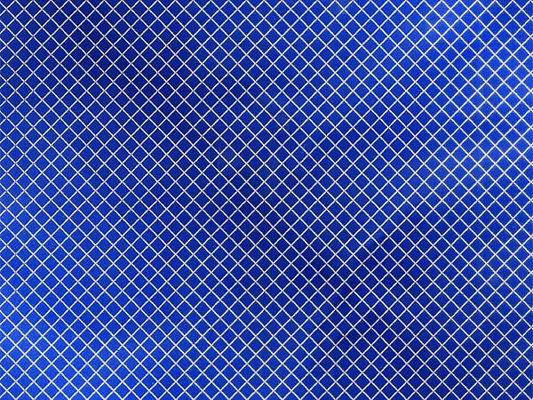 "Silver Diamond on Blue Foil Gift Wrap, 30"" x 417', Half Ream Roll"