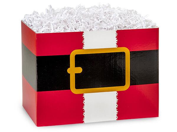 "Large Santas Belt Basket Boxes 10-1/4x6x7-1/2"""