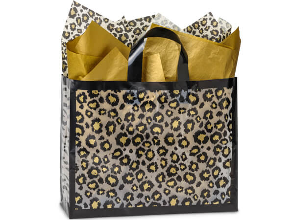 Leopard Safari Plastic Shopping Bags