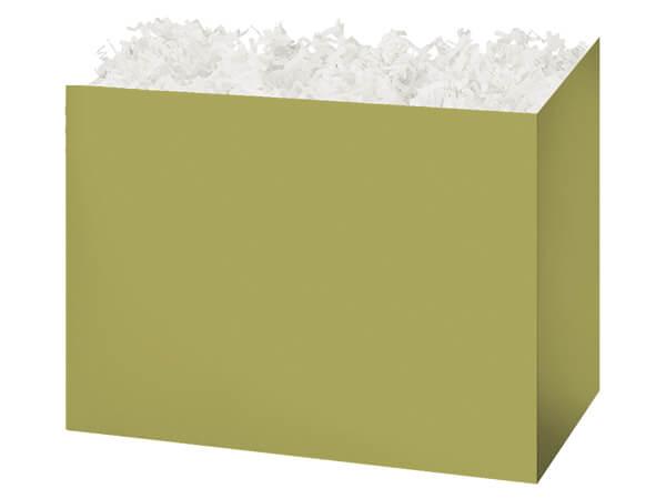 "Large Solid Sage Basket Boxes, 10.25x6x7.5"", 6 Pack"