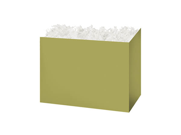 "Small Solid Sage Basket Boxes, 6.75x4x5"", 6 Pack"