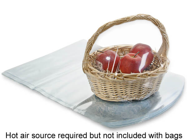 "Dome Shrink Basket Bags, 20 x 20"", 100 Pack"