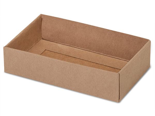 "Kraft Slide Open Candy Box Base, 5x2.75x1.25"", 100 Pack"