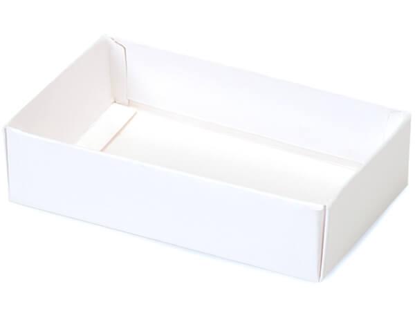 "White Slide Open Candy Box Base, 5x2.75x1.25"", 100 Pack"
