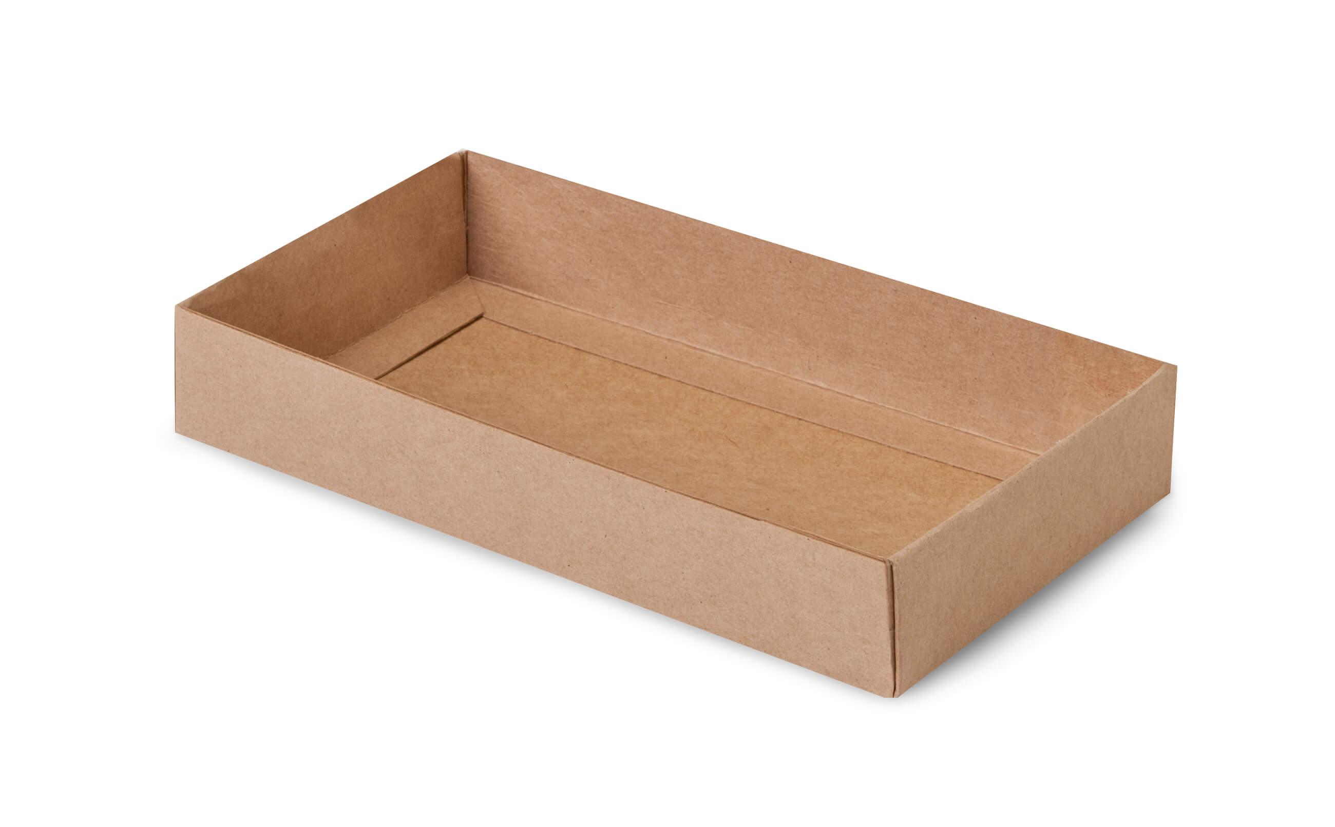 "Kraft Slide Open Candy Box Base, 8x4.25x1.25"", 100 Pack"