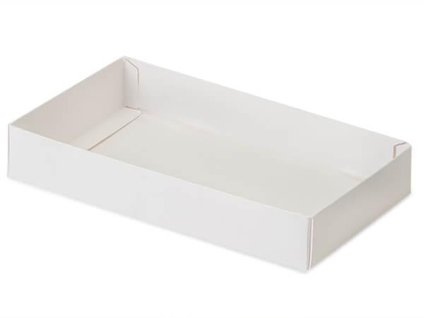 "White Slide Open Candy Box Base, 8x4.25x1.25"", 100 Pack"