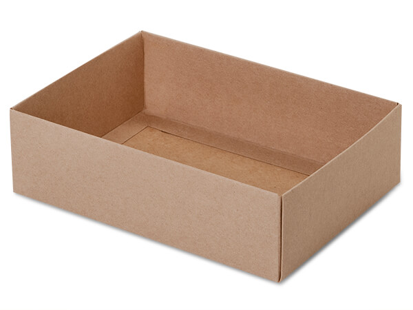 "Kraft Slide Open Candy Box Base, 6.5x4.75x2"", 100 Pack"