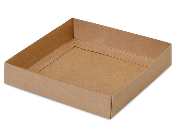 "Kraft Slide Open Candy Box Base, 5.5x5.5x1"", 100 Pack"