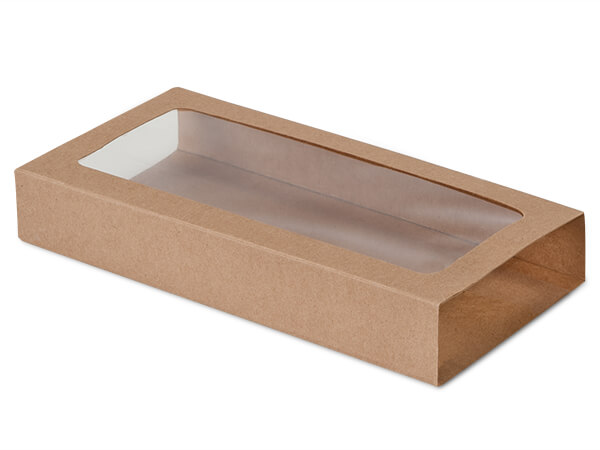 "Kraft Slide Open Candy Box Sleeve, 8x4.25x1.25"", 100 Pack"