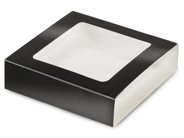 "Black Slide Open Candy Box Sleeve, 5.5x5.5x1"", 100 Pack"