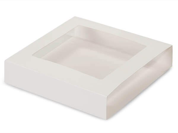 "White Slide Open Candy Box Sleeve, 5.75x5.75x1"", 100 Pack"