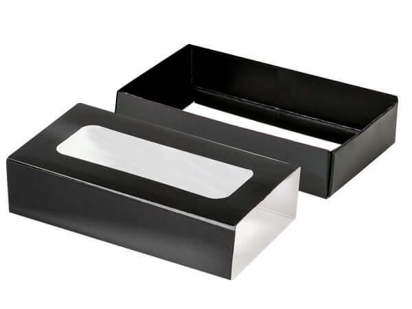 "Black Slide Open Candy Box Set, 5x2.75x1.25"", 20 Pack"