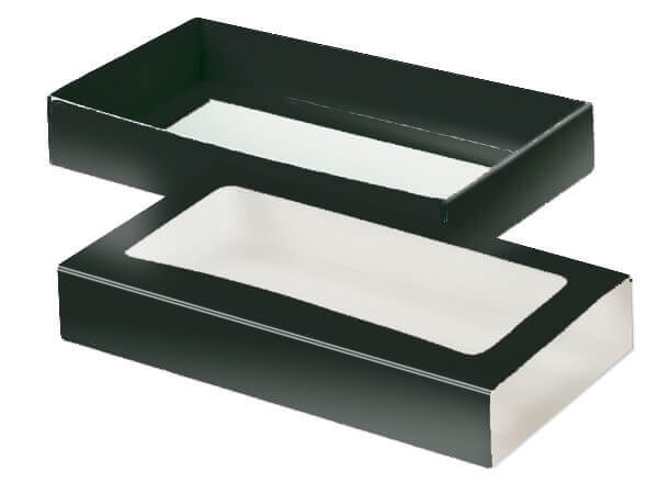 "Black Slide Open Candy Box Set, 8x4.25x1.25"", 20 Pack"