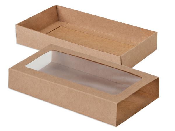 """Kraft Slide Open Candy Box Set, 8x4.25x1.25"""", 20 Pack"""