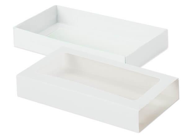 "White Slide Open Candy Box Set, 8x4.25x1.25"", 20 Pack"