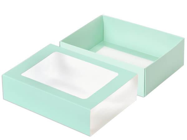 """Aqua Slide Open Candy Box Set, 6.75x4.75x2"""", 20 Pack"""