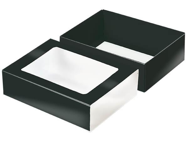 "Black Slide Open Candy Box Set, 6.75x4.75x2"", 20 Pack"