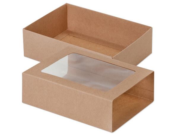 """Kraft Slide Open Candy Box Set, 6.5x4.75x2"""", 20 Pack"""
