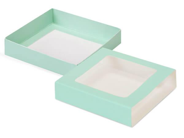 """Aqua Slide Open Candy Box Set, 5.5x5.5x1"""", 20 Pack"""
