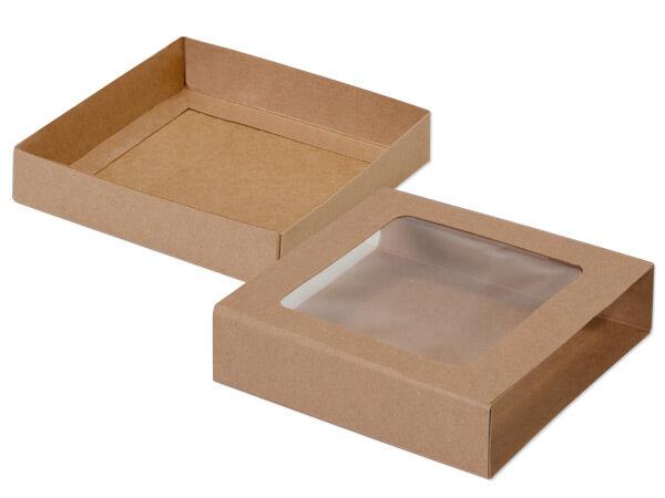 """Kraft Slide Open Candy Box Set, 5.5x5.5x1"""", 20 Pack"""
