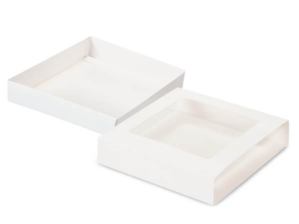 "White Slide Open Candy Box Set, 5.5x5.5x1"", 20 Pack"