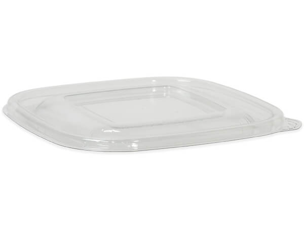 Small Clear Flat Lid, Recycled Clear PET, 50 Pack