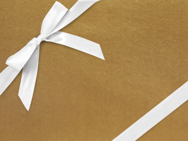 "Celebrity Gold  24"" x 833' Full Ream Roll Gift Wrap"