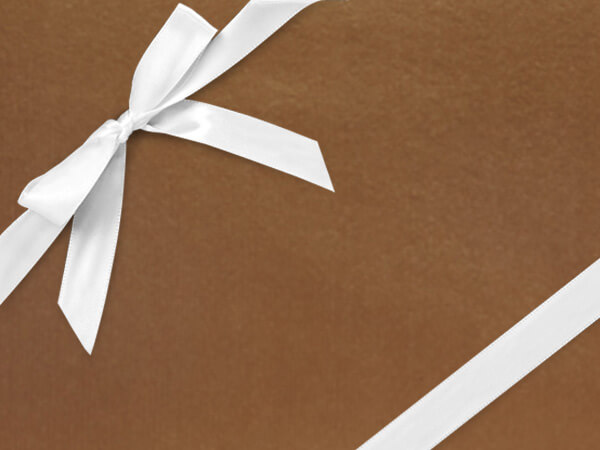 """Bright Copper Gift Wrapping Paper 30"""" x 417', Half Ream Roll"""