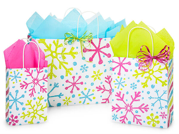 Snowflake Jubilee Paper Shopping Bags