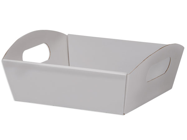 Silver Shallow Folding Market Tray