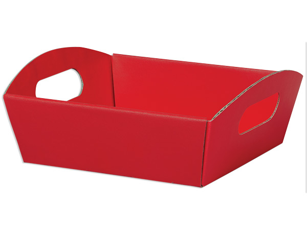 Red Shallow Folding Market Tray