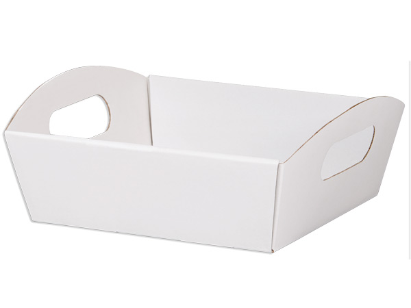 White Small Shallow Folding Market Tray