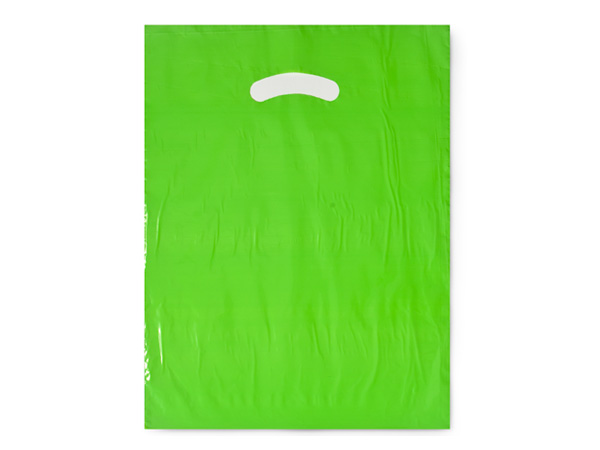 "Citrus Super Gloss Bags 9x12"" Recycled Plastic Bags 1.25 mil"