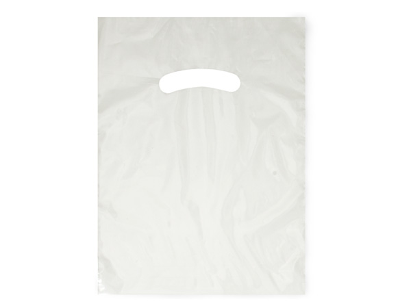 "Clear Super Gloss Bags 9x12"" Recycled Plastic Bags 1.25 mil"