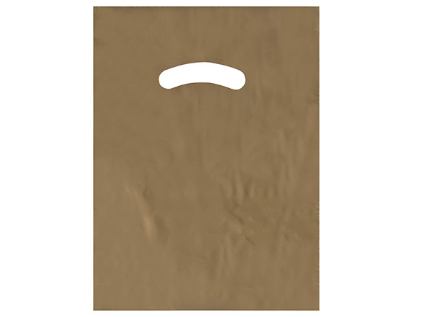 """Gold Super Gloss Bags 9x12"""" Recycled Plastic Bags 1.25 mil"""