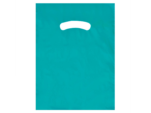 """Teal Super Gloss Bags 9x12"""" Recycled Plastic Bags 1.25 mil"""