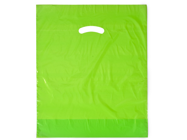 """Citrus Super Gloss Bags 12x15"""" Recycled Plastic Bags 1.25 mil"""