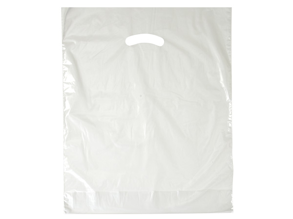 "Clear Super Gloss Bags 12x15"" Recycled Plastic Bags 1.25 mil"