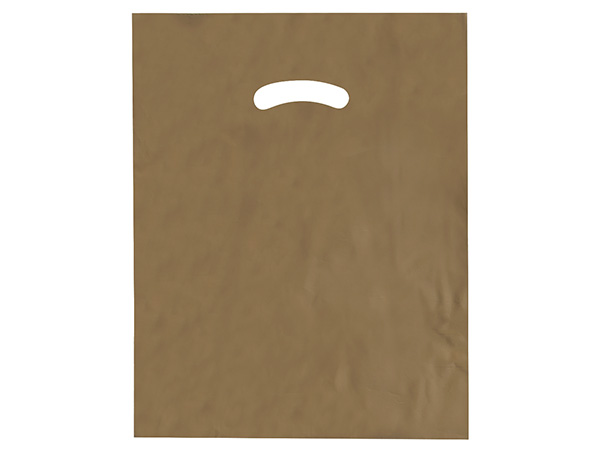 """Gold Super Gloss Bags 12x15"""" Recycled Plastic Bags 1.25 mil"""