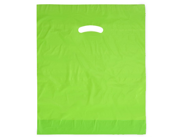 "Citrus Super Gloss Bags 15x18x4"" Recycled Plastic Bags 1.25 mil"