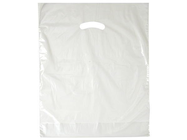 """Clear Super Gloss Bags 15x18x4"""" Recycled Plastic Bags 1.25 mil"""