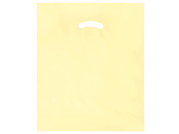 "Ivory Super Gloss Bags 15x18x4"" Recycled Plastic Bags 1.25 mil"