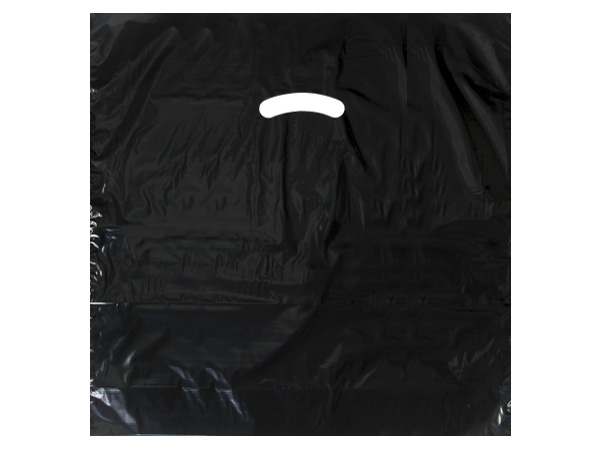 "Black Super Gloss Bags 20x20x5"" Recycled Plastic Bags 1.50 mil"