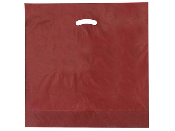 "Burgundy Super Gloss Bags 20x20x5"" Recycled Plastic Bags 1.50 mil"