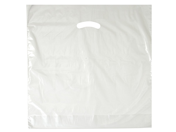 """Clear Super Gloss Bags 20x20x5"""" Recycled Plastic Bags 1.50 mil"""